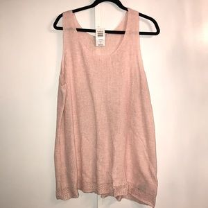 Brand new pale pink sweater top